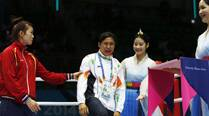 Sarita Devi stuns officials, leaves bronze at podium