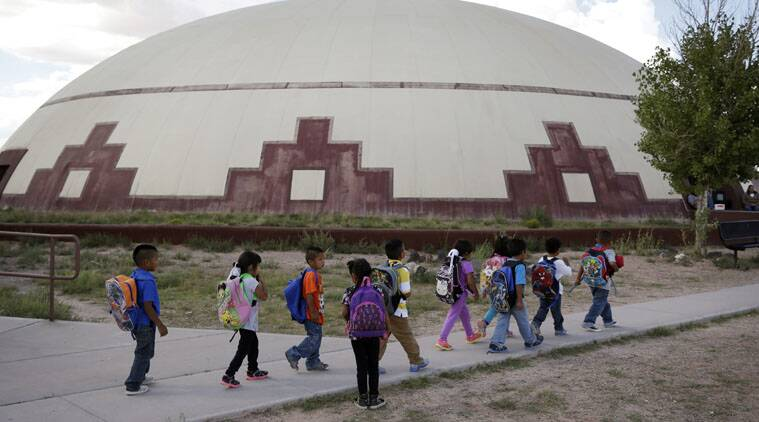 Federally owned schools for Native Americans on reservations are marked by remoteness and extreme poverty.