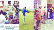 J&K DIG's son posts photos of 'Dad & I' enjoying perks of power