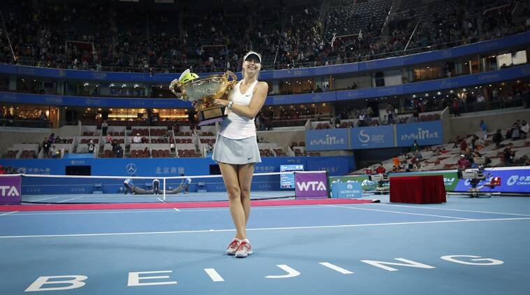 harapova hit 18 winners compared to Kvitova's 25 but committed 15 less unforced errors than her opponent's 44 to prevail in the three-setter. (Source: AP)