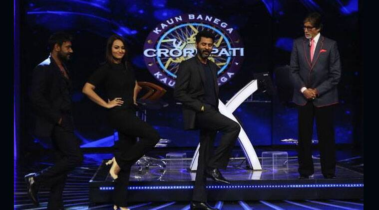 "The team of forthcoming film ""Action Jackson"", including lead pair Ajay Devgn and Sonakshi Sinha, shot the grand finale episode of the eighth edition of game show ""Kaun Banega Crorepati"" (KBC), which will be aired on November 9."