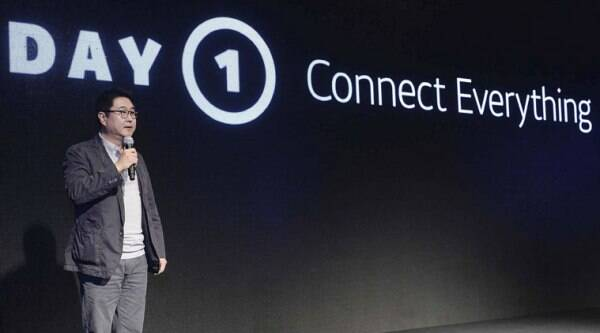 In this Oct. 1, 2014 photo released by Daum Kakao, Sirgoo Lee, a co-CEO of Daum Kakao, an Internet portal and app developer, speaks during a press conference in Seoul, South Korea. (Source: AP)