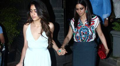 Sridevi dines out with daughters Jahnvi, Khushi and hubby Boney
