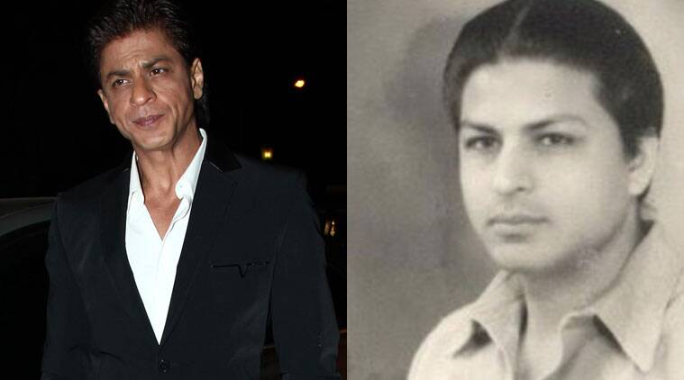 Shah Rukh Khan and his father.