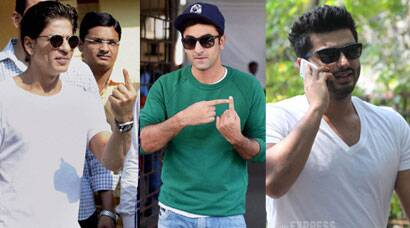 SRK, Ranbir, Arjun and other celebs cast their vote