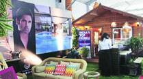Suniel Shetty's stall at the Property Exhibition