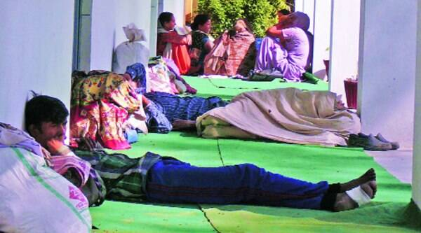 A government school in Salerh has been turned into a camp.
