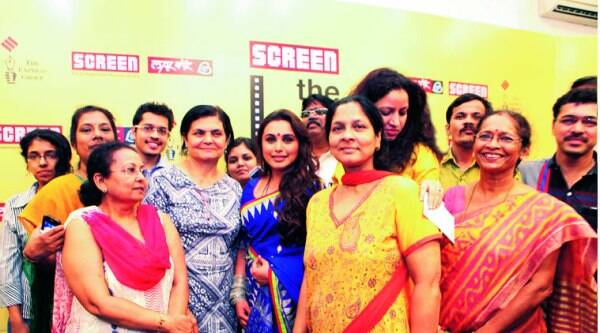 The Screen team with Rani Mukerji at Screen The Big Picture