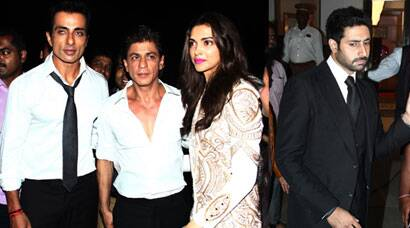 SRK, Deepika, Abhishek, Sonu party with the TV stars