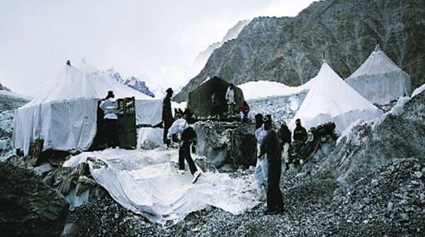 High-altitude tents at the centre of the controversy.