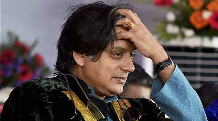 Congress MP Shashi Tharoor during a function at DG Vaishnav College in Chennai on Friday. (Source: PTI)