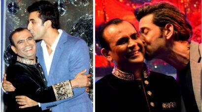 PHOTOS: Hrithik Roshan, Ranbir Kapoor pucker up