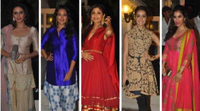 PHOTOS: Desi beauties Sonakshi, Shraddha, Shilpa Sophie at Ekta Kapoor's Diwali bash