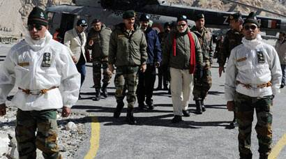 PM Narendra Modi meets armymen at Sicahen on Diwali