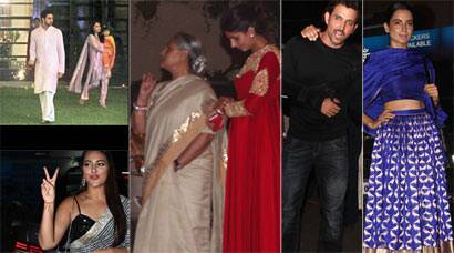 PHOTOS: Hrithik, Sonakshi, Kangana celebrate Diwali with the Bachchans