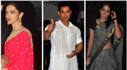 PHOTOS: Deepika, Sonam, Sidharth party with Aamir, daughter Ira for Diwali