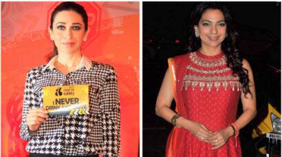 B-Town ladies Karisma, Juhi are out and about