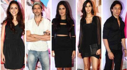 PHOTOS: Aditi, Tiger watch 'Bang Bang' along with lead stars Hrithik, Katrina