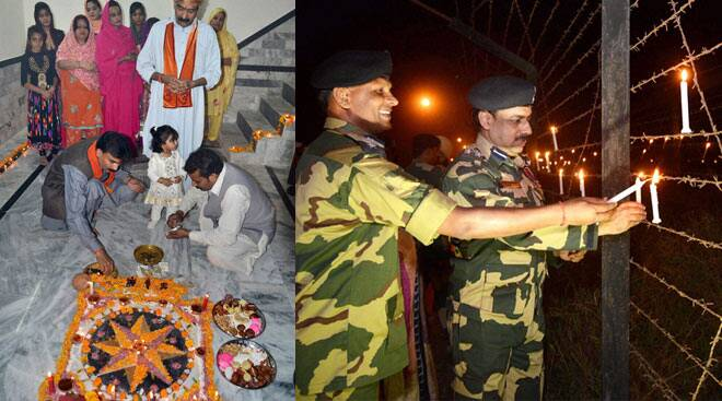 Today in Pics: Hindus in Pakistan celebrate Diwali, army men light up India-Pakistan border