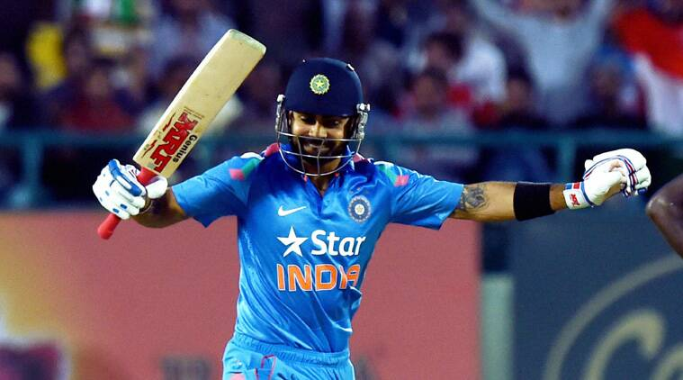 Virat Kohli showed his class on way to reaching his first hundred across formats since February (Source: PTI)