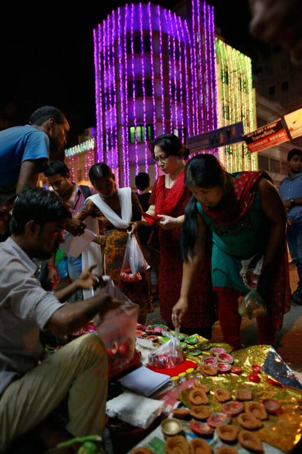 Colour, lights and sparkle: India celebrates Diwali