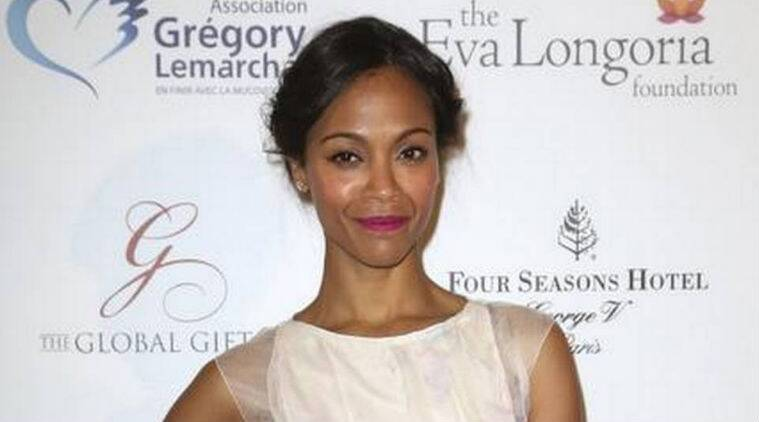 Zoe Saldana announced she is pregnant with twins earlier this month. (Source: AP)