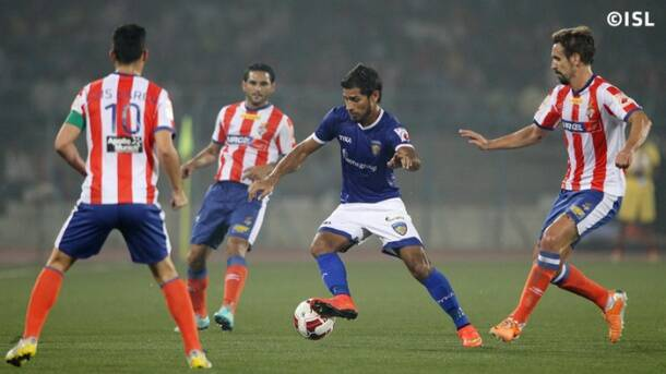 Atletico de Kolkata stop Chennaiyin FC from topping the table