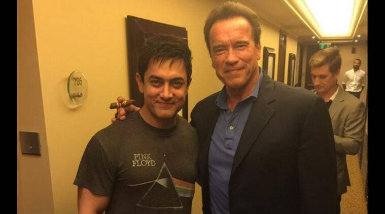 Arnold Schwarzenegger who was visiting the country, was said to be quite impressed with Aamir Khan.