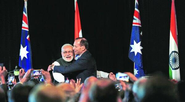 Abbott's stated top priority is a free trade policy with India by the end of next year. (Source: Reuters)