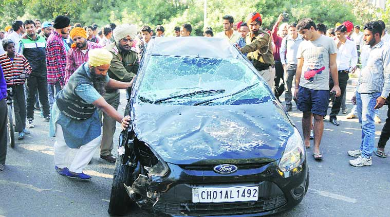 Student killed, friend hurt as car rams scooter in Mohali
