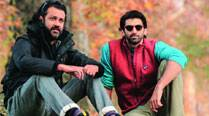 Director Abhishek Kapoor and Aditya Roy Kapur on the sets of Fitoor