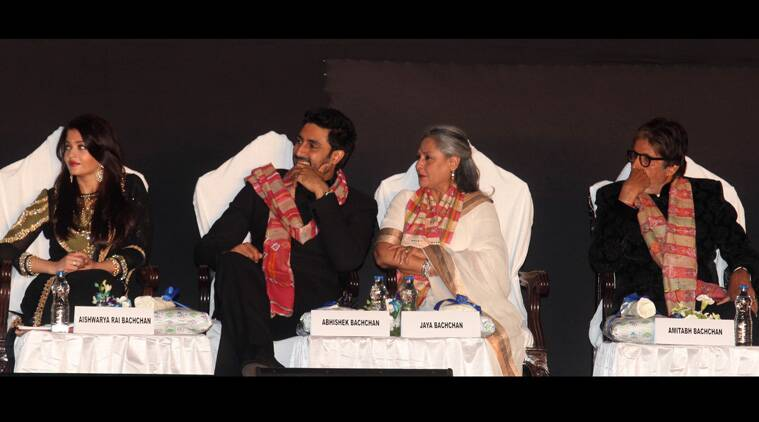 Bollywood screen icon Amitabh Bachchan and his family not only fired-up the inaugural ceremony of the 20th Kolkata International Film Fest but they also strengthened and renewed their ties with West Bengal. (Source: Express Photo by Partha Paul)