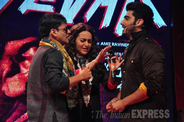 Arjun Kapoor, Sonakshi, Manoj Bajpayee launch 'Tevar'