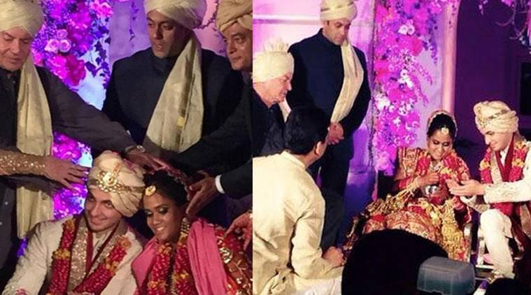 Bollywood superstar Salman Khan's youngest sister Arpita Khan finally tied the knot with her longtime beau Aayush Sharma in truly royal way at the Taj Falaknuma hotel in Hyderabad on Tuesday (November 18) evening.