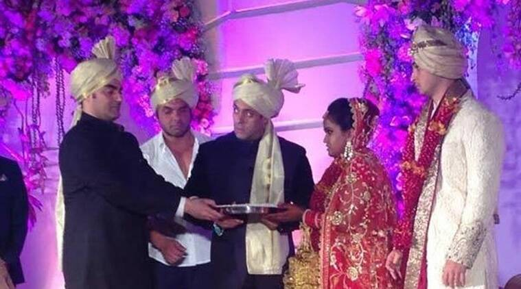 Arpita Khan tied the knot with her fiance and Delhi based businessman Aayush Sharma, who is also the grandson of former Telecom minister Sukhram.