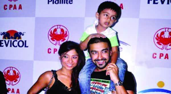 Ashish Chowdhary with Samita and Agasthya