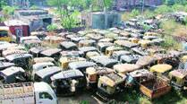 Traffic police acts tough on illegal autos, but has less space for impounded ones