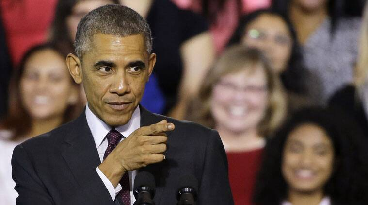 US President Barack Obama and the top Senate Republican offered clashing views about the nation's trajectory on Saturday.