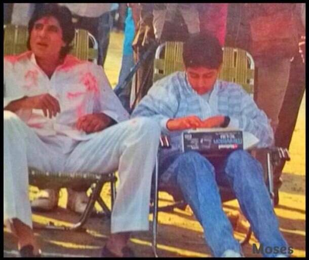 Abhishek reminisces old times with father Amitabh Bachchan; Big B with late Sitara Devi