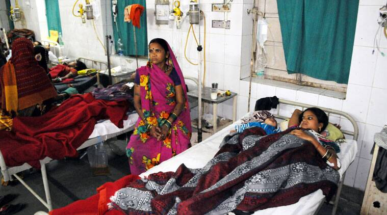 ndian women who underwent sterilization surgeries receive treatment at the CIMS hospital in Bilaspur, in the central Indian state of Chhattisgarh, Tuesday, Nov. 11, 2014. Eight Indian women have died and more than a dozen others in critical condition Tuesday after undergoing sterilization surgeries in a free government-run program to help slow the country's population growth. A total of 83 women, all poor villagers under the age of 32, had the operations Saturday in a hospital outside Bilaspur city. Each of the women had received a payment of 600 rupees, or about , to participate in the program, said the state's chief medical officer, Dr. S.K. Mandal. (Source: AP)