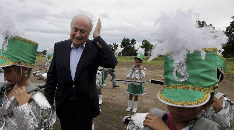 Sepp Blatter took the opportunity to throw his weight behind the capabilities of the Middle East nations (Source: AP)