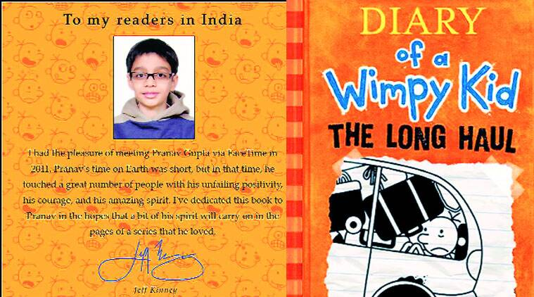 Delhi Boy Lost Life To Rare Disease Stays Alive In Wimpy Kid Book India News The Indian Express