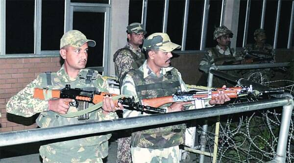 High alert on the Indian side of the border Sunday