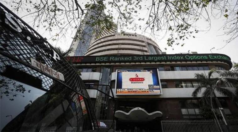 After hitting new peak in the opening trade, Sensex succumbed to profit-booking and selling by foreign funds at record levels.