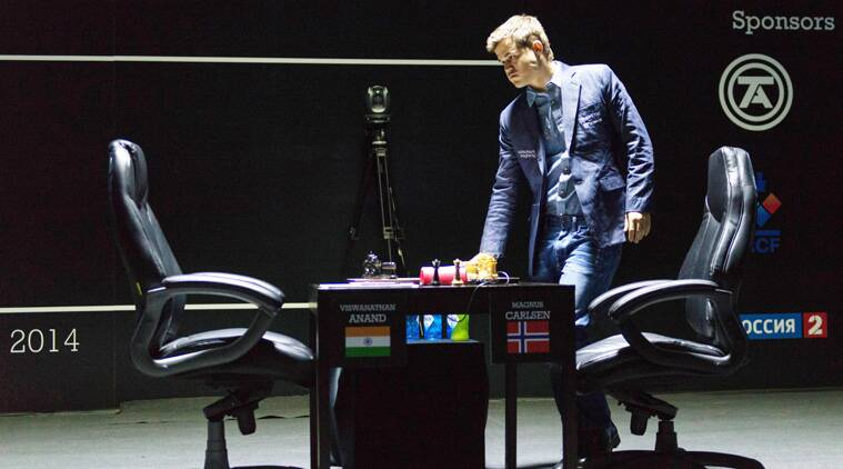 Carlsen quickly conceded that playing for a win from this point was futile. (Source: AP File)