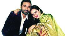 Rekha with Dhanush
