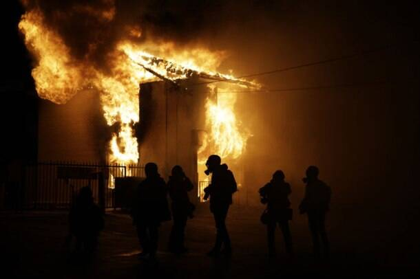 Ferguson verdict: Dozen buildings burn, gunshots heard on streets