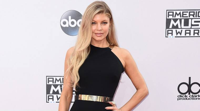 Fergie was performing her new song 'LA LOVE (la la)' at the 2014 American Music Awards. (Source: AP)