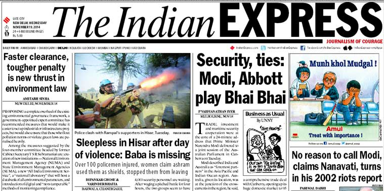 We present you the top five stories from today's edition of The Indian Express.