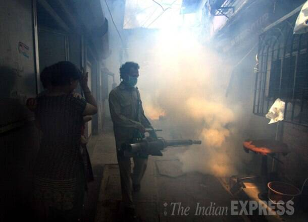 Today in Pics: BMC workers fumigate Mumbai streets